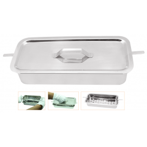 Instrument Sterilization Tray with lid 10X8X2.5""